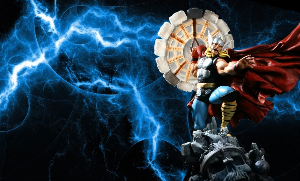 Gallery Feature Image of Thor Polystone Statue - Click to open image gallery