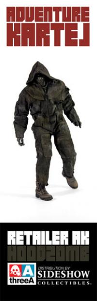 Gallery Image of Hoodzomb (Black) Sixth Scale Figure