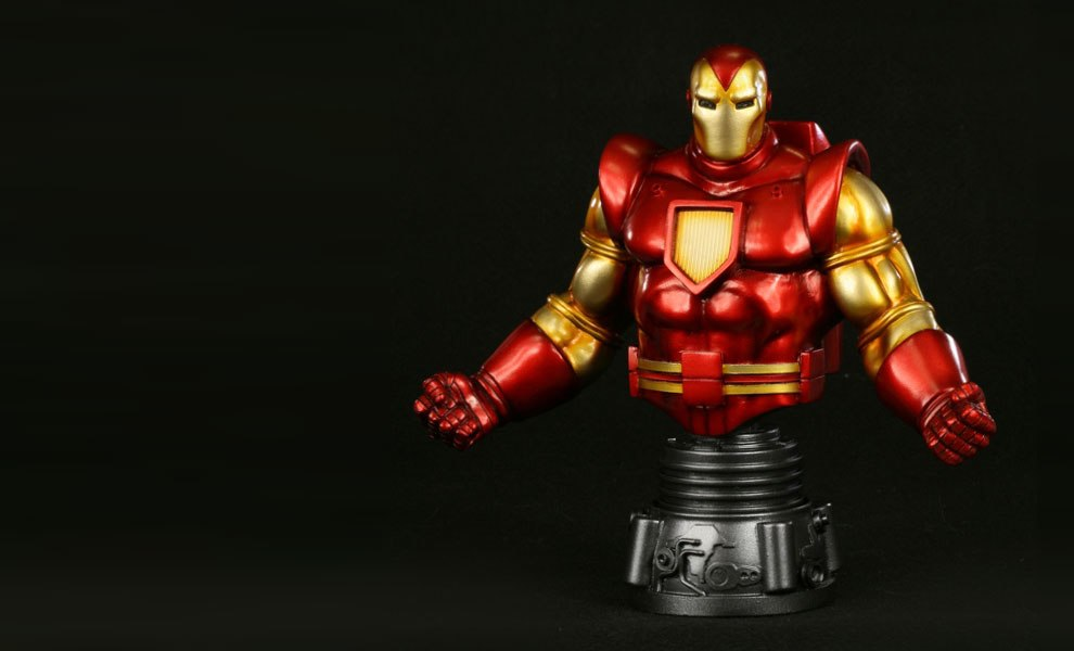 Gallery Feature Image of Iron Man Space Armor Polystone Bust - Click to open image gallery