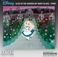 Gallery Image of Alice in the Garden by Mary Blair Fine Art Print