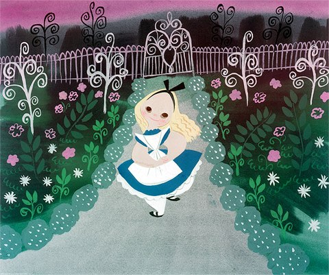 ACME Archives Alice in the Garden by Mary Blair Fine Art Print