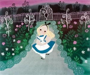 Alice in the Garden by Mary Blair Fine Art Print