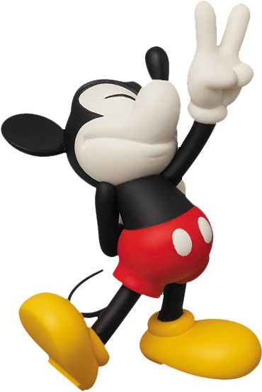 Medicom Toy Peace Sign Mickey Vinyl Collectible