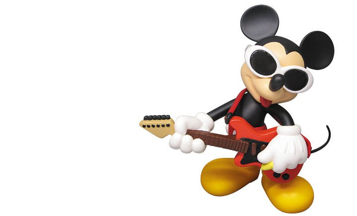 Gallery Feature Image of Grunge Rock Mickey Vinyl Collectible - Click to open image gallery