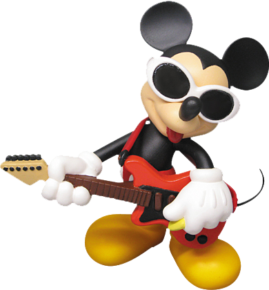Medicom Toy Grunge Rock Mickey Vinyl Collectible