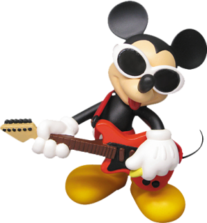 Grunge Rock Mickey Vinyl Collectible