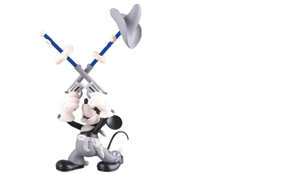 Gallery Feature Image of Two-Gun Mickey Vinyl Collectible - Click to open image gallery