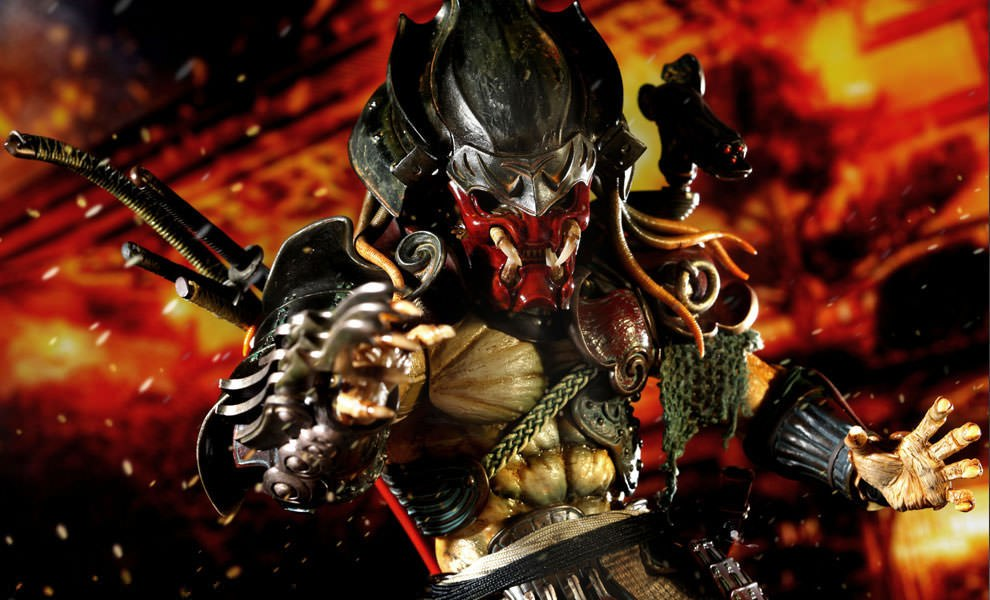 Gallery Feature Image of Alien vs Predator : Samurai Predator Sixth Scale Figure - Click to open image gallery
