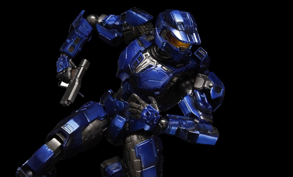 Gallery Feature Image of Blue Spartan Mark V Collectible Figure - Click to open image gallery