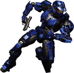 Blue Spartan Mark V Collectible Figure