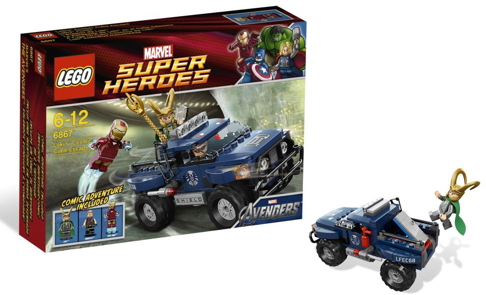 Gallery Feature Image of Lokis Cosmic Cube Escape LEGO Toys - Click to open image gallery