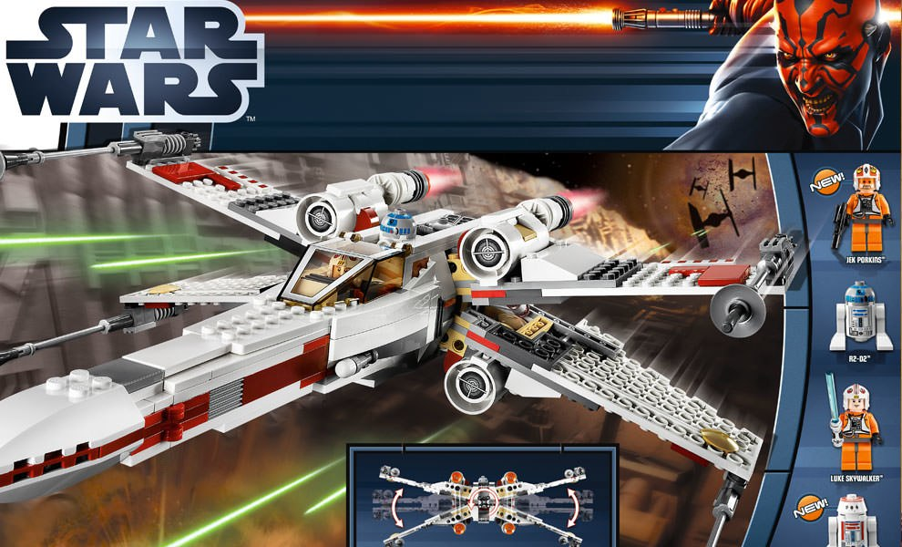 Gallery Feature Image of X-wing Starfighter LEGO Toys - Click to open image gallery