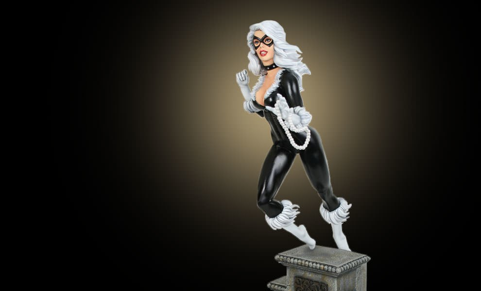Gallery Feature Image of Black Cat Retro Polystone Statue - Click to open image gallery