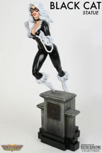 Gallery Image of Black Cat Retro Polystone Statue