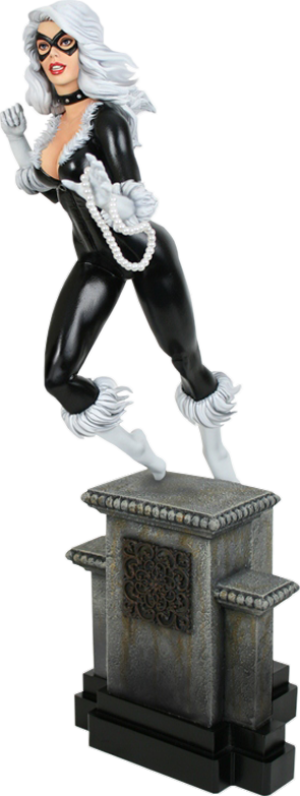 Black Cat Retro Polystone Statue