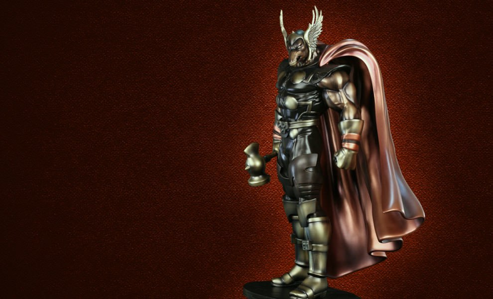 Gallery Feature Image of Faux Bronze Beta Ray Bill Polystone Statue - Click to open image gallery