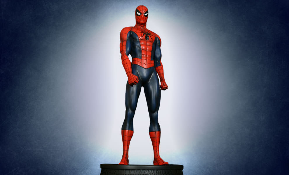 Gallery Feature Image of Spider-Man Red Museum Polystone Statue - Click to open image gallery