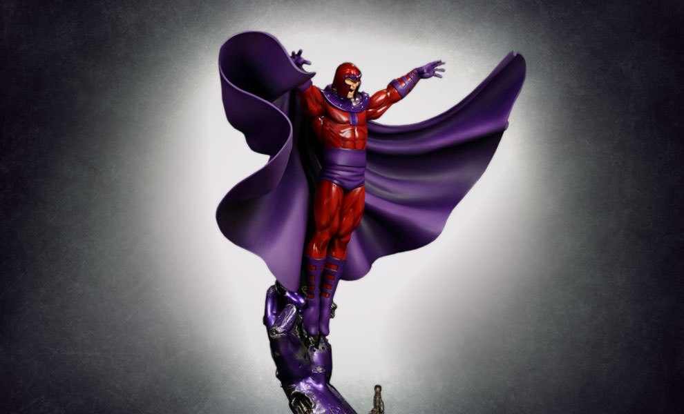 Gallery Feature Image of Magneto Action Polystone Statue - Click to open image gallery
