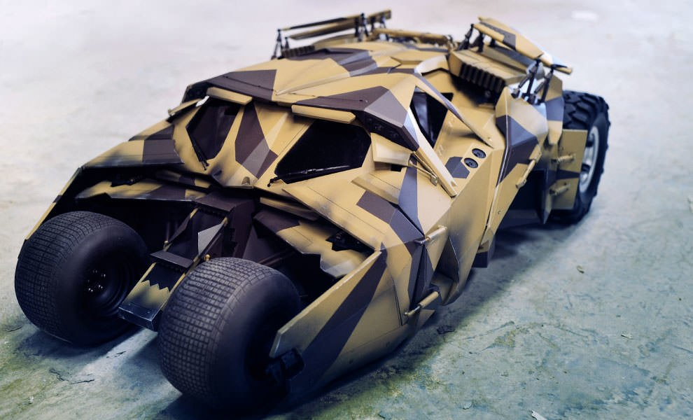 Gallery Feature Image of Batmobile - Tumbler (Camouflage Version) Sixth Scale Figure Accessory - Click to open image gallery