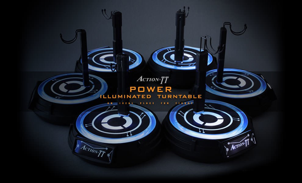 Gallery Feature Image of Action-TT Power Illuminated Turntable Collectible Stand - Click to open image gallery