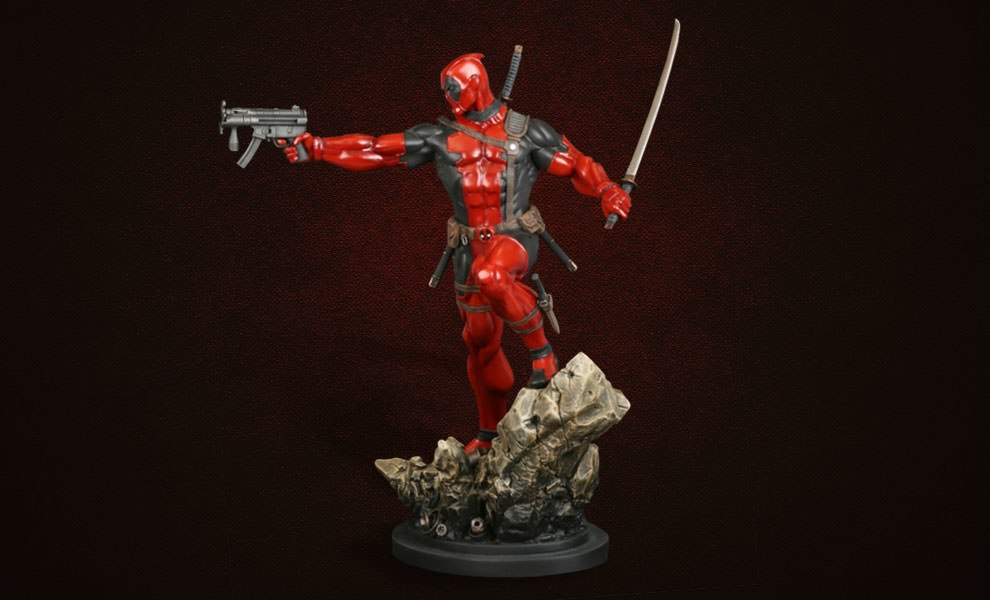 Gallery Feature Image of Deadpool Action Polystone Statue - Click to open image gallery
