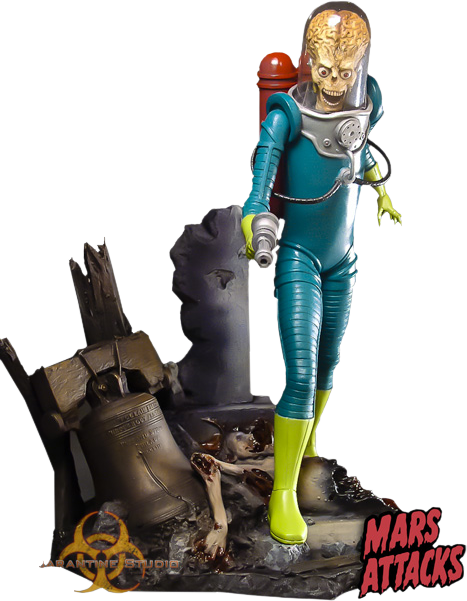 Quarantine Studio Mars Attacks Statue