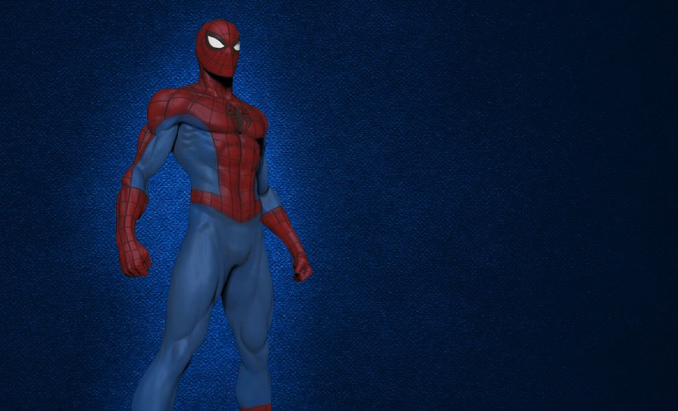 Gallery Feature Image of Modern Spider-Man Museum Polystone Statue - Click to open image gallery