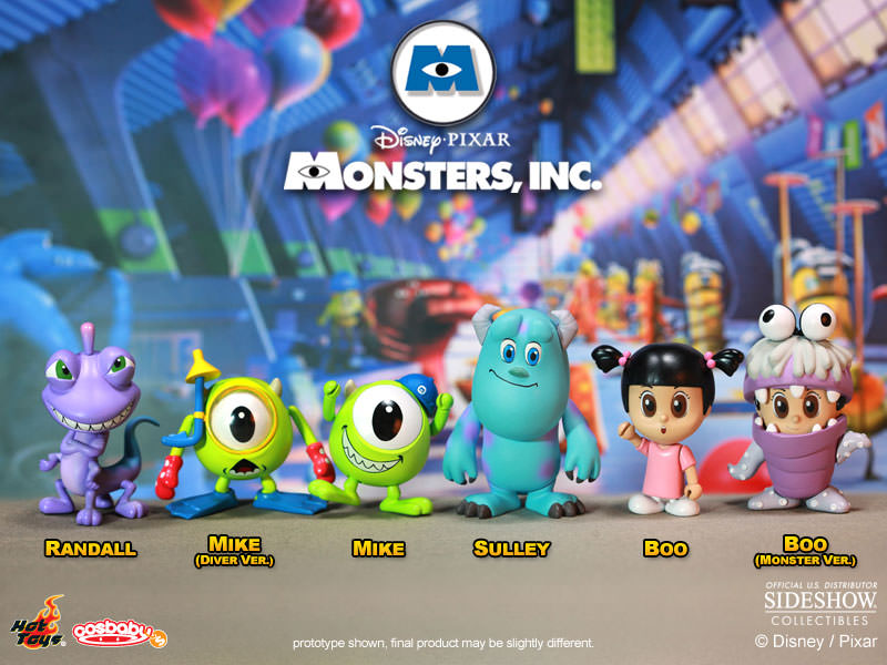 Disney Monsters Inc Cosbaby Series Complete Set Vinyl Collectible By Hot Toys Sideshow Collectibles