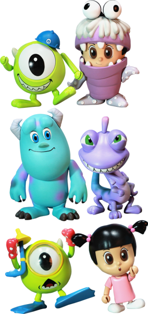 Monsters, Inc. Cosbaby Series - Complete Set Vinyl Collectible