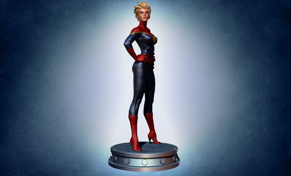 Gallery Feature Image of Carol Danvers: Captain Marvel Polystone Statue - Click to open image gallery