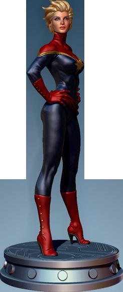 Bowen Designs Carol Danvers: Captain Marvel Polystone Statue