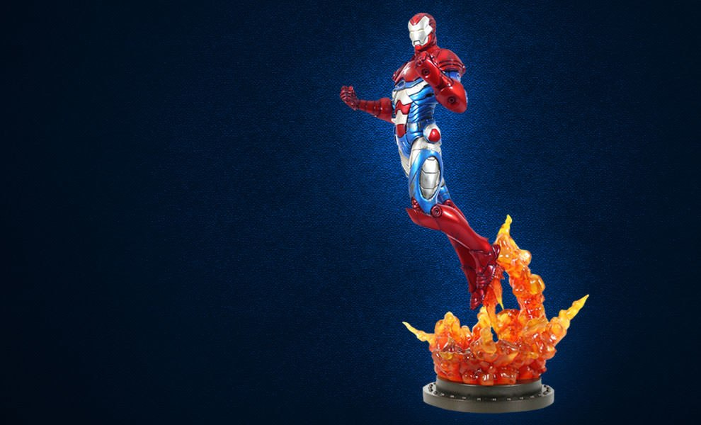 Gallery Feature Image of Iron Patriot Polystone Statue - Click to open image gallery