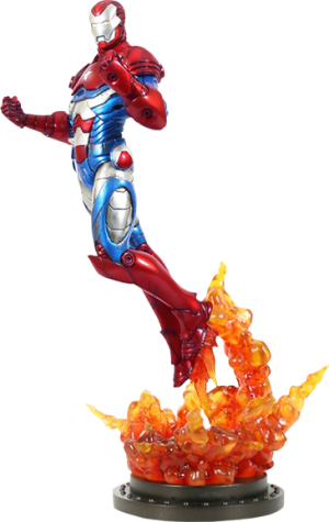 Iron Patriot Polystone Statue