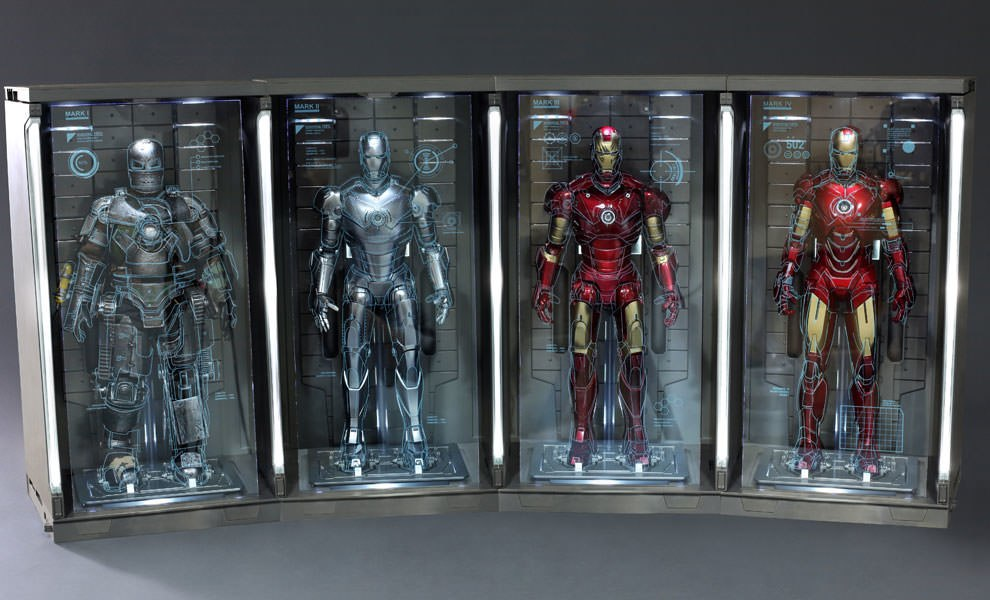 Gallery Feature Image of Hall of Armor (Set of Four) Sixth Scale Figure Accessory - Click to open image gallery