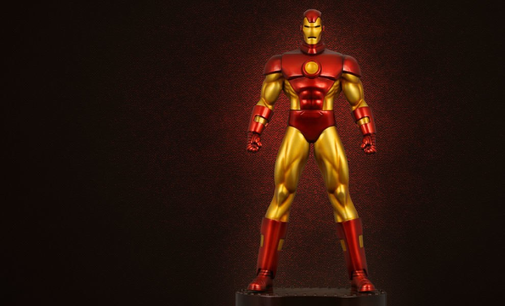 Gallery Feature Image of Neo-Classic Iron Man Polystone Statue - Click to open image gallery