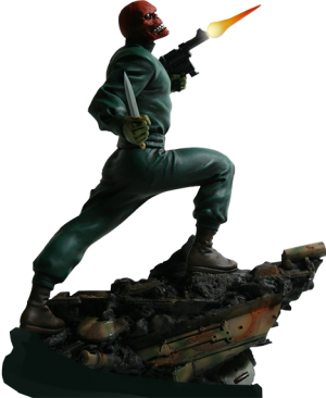 Red Skull: Action  Statue