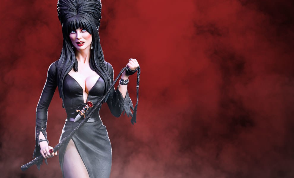Gallery Feature Image of Elvira - Mistress of the Dark Statue - Click to open image gallery