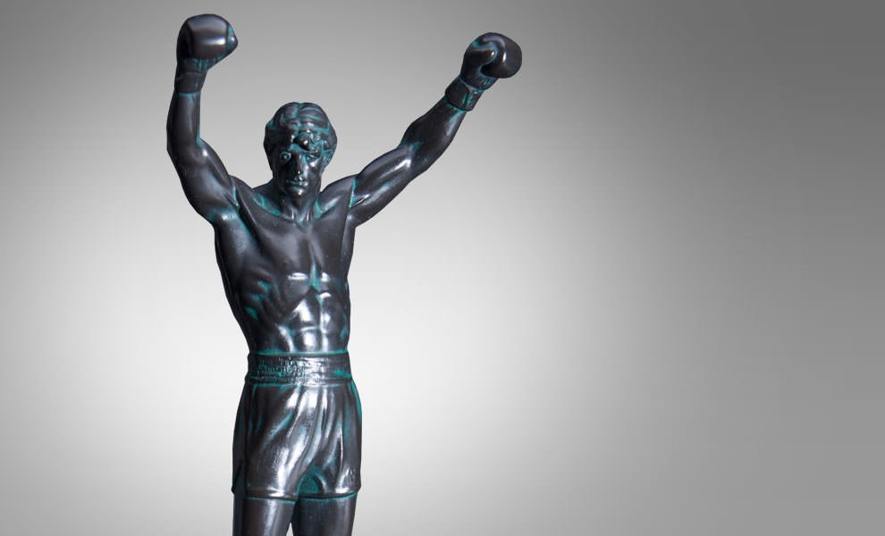 Gallery Feature Image of Rocky Balboa Resin Statue - Click to open image gallery