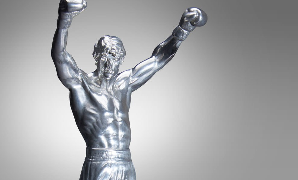 Gallery Feature Image of Rocky Balboa Pewter Statue - Click to open image gallery