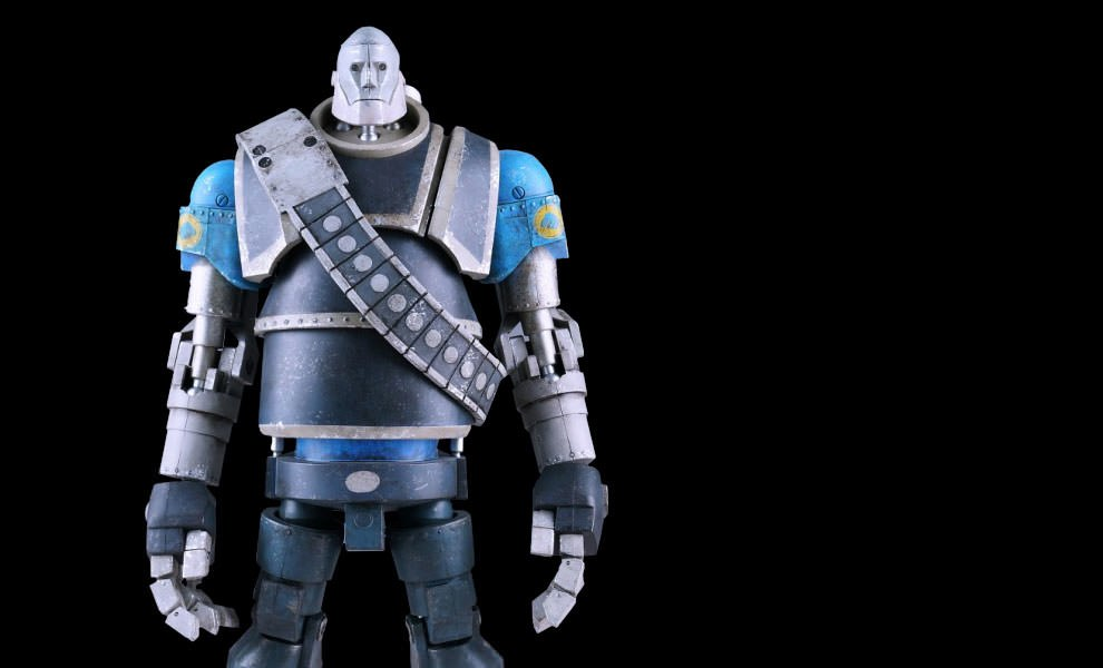 Gallery Feature Image of Robot Heavy - Blue Team Collectible Figure - Click to open image gallery