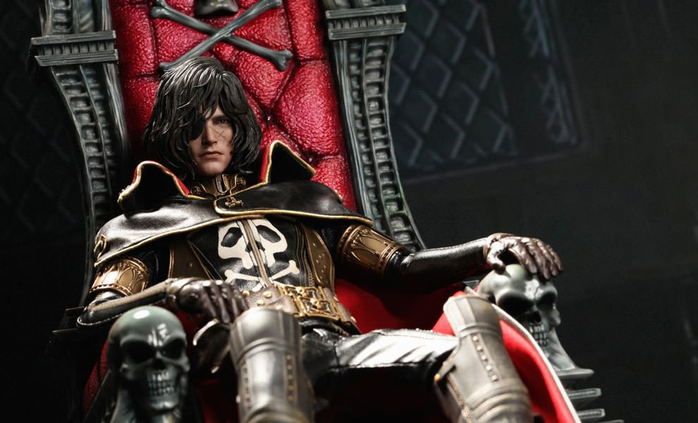 Gallery Feature Image of Captain Harlock with Throne of Arcadia Sixth Scale Figure - Click to open image gallery