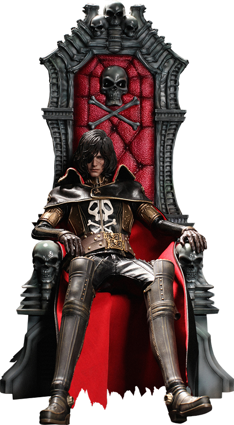 Hot Toys Captain Harlock with Throne of Arcadia Sixth Scale Figure