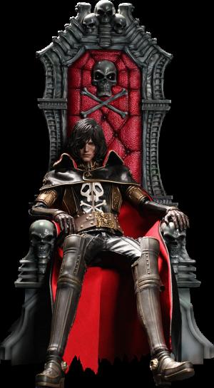 Captain Harlock with Throne of Arcadia Sixth Scale Figure