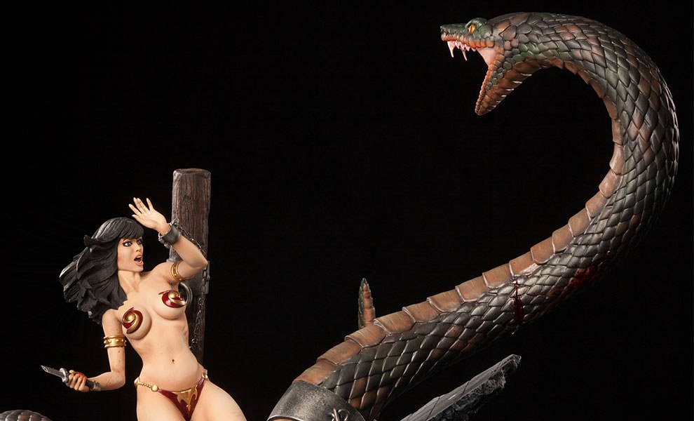 Gallery Feature Image of Snake and Slave Girl Polystone Diorama - Click to open image gallery