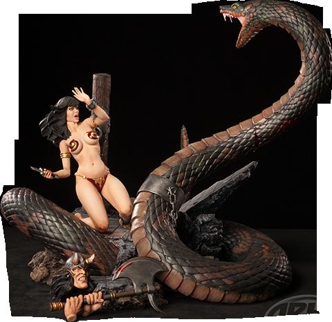 ARH Studios Snake and Slave Girl Polystone Diorama