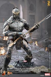 Gallery Image of Chitauri Commander and Footsoldier Sixth Scale Figure
