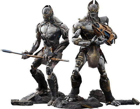 Hot Toys Chitauri Commander and Footsoldier Sixth Scale Figure
