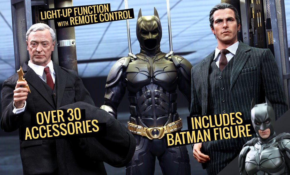 Gallery Feature Image of Batman Armory with Bruce Wayne and Alfred Sixth Scale Figure - Click to open image gallery