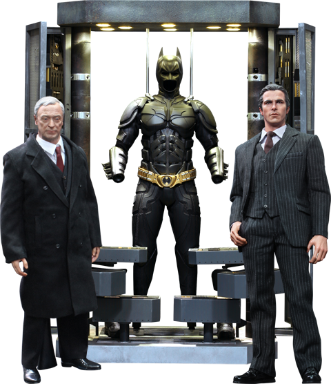 Hot Toys Batman Armory with Bruce Wayne and Alfred Sixth Scale Figure