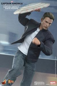 Gallery Image of Captain America and Steve Rogers Sixth Scale Figure